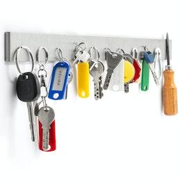Schlüsselbrett magnetisch 50 cm Magnetleiste, aus Edelstahl, für 11 Schlüssel