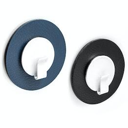 """silwy Metall-Nano-Gel-Pad Ø 6,5 cm mit Hakenmagnet """"Clever"""" selbsthaftender Haftgrund für Magnete, wiederverwendbar, mit Kunstlederüberzug, Set, in verschiedenen Farben"""