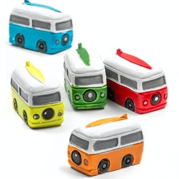 Fridge magnet 'Camper' campervan-shaped, assorted, set of 5