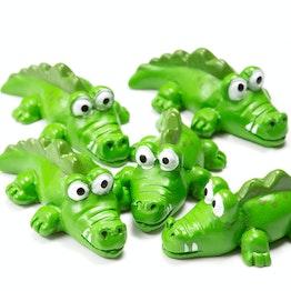 Fridge magnets 'Kroko' crocodile-shaped, green, set of 5