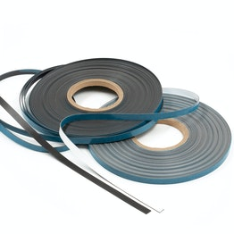 Ferrous tape self-adhesive 25 m x 10 mm self-adhesive surface for magnets, rolls of 25 m each, in different colours