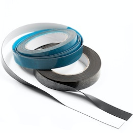 Ferrous tape self-adhesive 5 m x 20 mm self-adhesive surface for magnets, rolls of 5 m each, in different colours