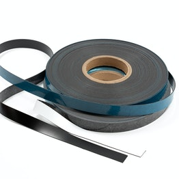 Ferrous tape self-adhesive 25 m x 20 mm self-adhesive surface for magnets, rolls of 25 m each, in different colours