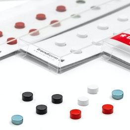 Mini magneti Steely 6 x 3 mm, set da 10, in diversi colori