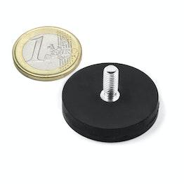 GTNG-31 imán en recipiente de goma con vástago roscado Ø 31 mm, sujeta aprox. 9 kg, rosca M5