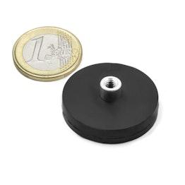 TCNG-31 aimant en pot caoutchouté avec manchon taraudé Ø 31 mm, tient env. 9 kg, pas de vis M4