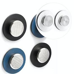 """silwy metaal-nano-gel pads Ø 5.0 cm met magneten """"Smart"""" zelfhechtende hechtondergrond voor magneten, herbruikbaar, met kunstleer bekleed, set van 2, in verschillende kleuren"""