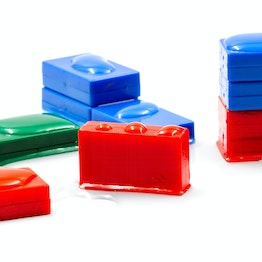 M-BLOCK-01 Block magnets with plastic cover, water-proof, 5 per set, in different colours