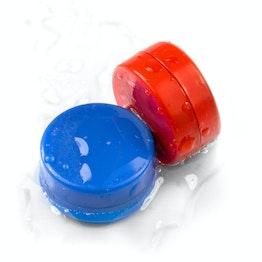M-DISC-02 Dischi magnetici con involucro di plastica Ø 13,4 mm, impermeabili, set da 5 pezzi, in diversi colori