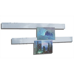 Magnetic strips stainless steel 50 cm, set of 2 surface for magnets, with magnetic mounting, incl. 12 strong magnets