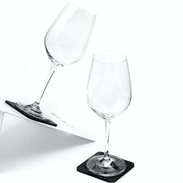 Verres magnétiques en cristal silwy lot de 2 vin 2 verres magnétiques en cristal, 2 nano-gel-pads métalliques