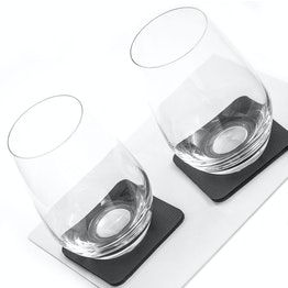 2 verres magnétiques en cristal silwy lot de 2 long drink 2 verres magnétiques en cristal, 2 nano-gel-pads métalliques