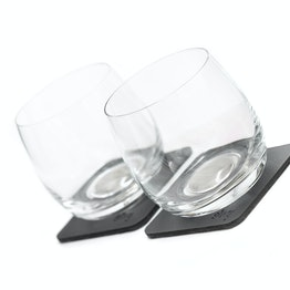 2 verres magnétiques en cristal silwy lot de 2 whisky 2 verres magnétiques en cristal, 2 nano-gel-pads métalliques