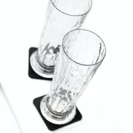 Set di 2 bicchieri magnetici da birra silwy trasparenti 2 bicchieri magnetici in plastica, 2 nano-gel-pad metallici