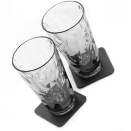 silwy Magnetische kunststof glazen set van 2 longdrink grey 2 magnetische glazen van kunststof, 2 metaal nano gel pads