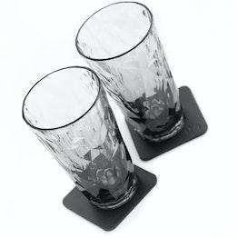 Set di 2 bicchieri magnetici da long drink in plastica silwy, grigio 2 bicchieri magnetici in plastica, 2 nano-gel-pad metallici