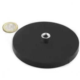 TCNG-88 magnete gommato con base in acciaio con boccola filettata Ø 88 mm, tiene ca. 56 kg, filettatura M8