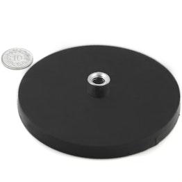 TCNG-88 gummierter Topfmagnet mit Gewindebuchse Ø 88 mm, Gewinde M8