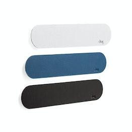 silwy barre métallique autocollante 25 cm support autocollant pour aimants, avec revêtement en similicuir, en différentes couleurs
