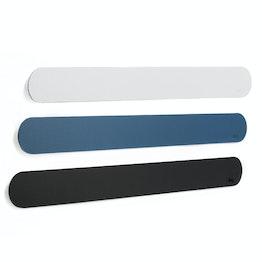 silwy barre métallique autocollante 50 cm support autocollant pour aimants, avec revêtement en similicuir, en différentes couleurs