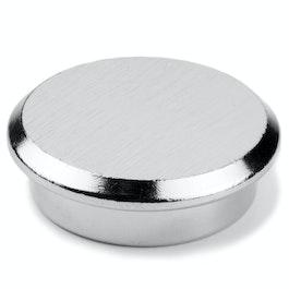 Steel 30 magnete per l'ufficio al neodimio in acciaio, Ø 30 mm