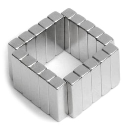Q-15-04-04-MN Block magnet 15 x 4 x 4 mm, neodymium, 45M, nickel-plated