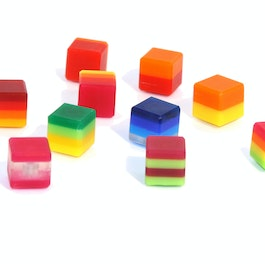 Color Cube deco magnets colour, made of acrylic glass