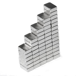 Q-06-04-02-HN Block magnet 6 x 4 x 2 mm, neodymium, 44H, nickel-plated