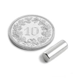 S-05-14-N Rod magnet Ø 5 mm, height 13.96 mm, neodymium, N45, nickel-plated