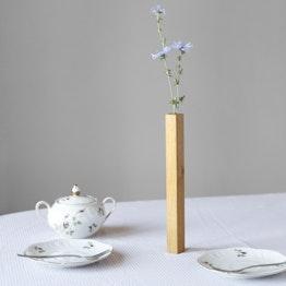 Magnetic vase Oak vase made of oak wood, magnetic on metal plate, gift-wrapped