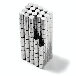 S-02-02-N Schijfmagneet Ø 2 mm, hoogte 2 mm, neodymium, N48, vernikkeld