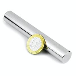 S-15-100-N Cylindre magnétique Ø 15 mm, hauteur 100 mm, néodyme, N35, nickelé