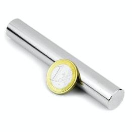 S-15-100-N Cilindro magnetico Ø 15 mm, altezza 100 mm, tiene ca. 8,2 kg, neodimio, N35, nichelato