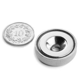 CSN-HT-25 Countersunk pot magnet Ø 25 mm, holds approx. 19 kg,