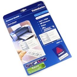 Tarjetas de visita sin impresión Avery Zweckform C32011, para etiquetas identificativas magnéticas, paquete con 10 hojas