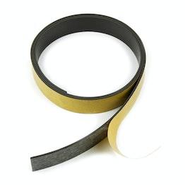 Magneettape ferriet 20 mm zelfklevend magneetband, rollen à 1 m / 5 m / 25 m