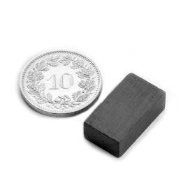 FE-Q-18-10-06 Blokmagneet 18 x 10 x 6 mm, ferriet, Y35, zonder coating