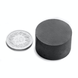 FE-S-25-15 Disc magnet Ø 25 mm, height 15 mm, ferrite, Y35, no coating