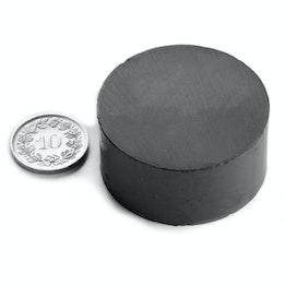 FE-S-40-20 Disco magnético Ø 40 mm, alto 20 mm, ferrita, Y35, sin revestimiento