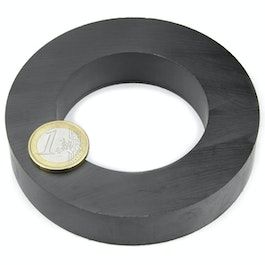 FE-R-100-60-20 Ring magnet Ø 100/60 mm, height 20 mm, ferrite, Y35, no coating
