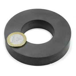 FE-R-80-40-15 Ringmagneet Ø 80/40 mm, hoogte 15 mm, ferriet, Y35, zonder coating