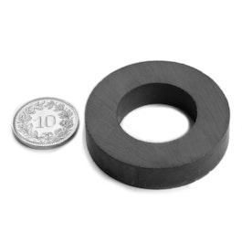 FE-R-40-22-09 Anneau magnétique Ø 40/22 mm, hauteur 9 mm, ferrite, Y35, sans placage