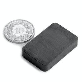 FE-Q-30-20-06 Bloque magnético 30 x 20 x 6 mm, ferrita, Y35, sin revestimiento