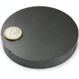 FE-S-100-15 Disc magnet Ø 100 mm, height 15 mm, ferrite, Y35, no coating