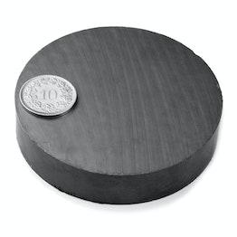 FE-S-70-15 Disco magnético Ø 70 mm, alto 15 mm, ferrita, Y35, sin revestimiento