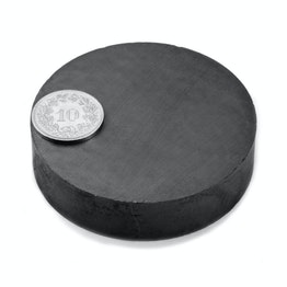 FE-S-60-15 Disco magnético Ø 60 mm, alto 15 mm, ferrita, Y35, sin revestimiento