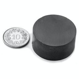 FE-S-30-15 Disc magnet Ø 30 mm, height 15 mm, ferrite, Y35, no coating