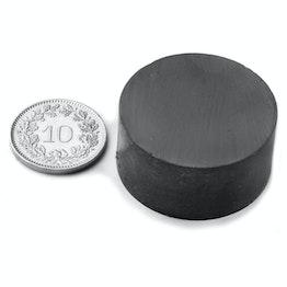 FE-S-30-15 Disco magnético Ø 30 mm, alto 15 mm, ferrita, Y35, sin revestimiento