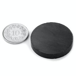 FE-S-30-05 Disco magnetico Ø 30 mm, altezza 5 mm, ferrite, Y35, senza rivestimento