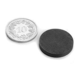 FE-S-20-03 Disco magnético Ø 20 mm, alto 3 mm, ferrita, Y35, sin revestimiento